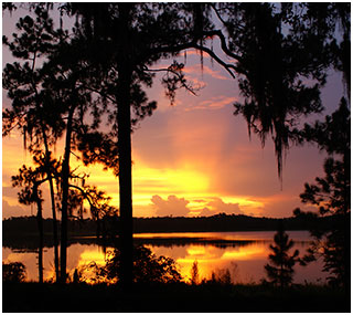 St. Johns River Hill Sunset On River